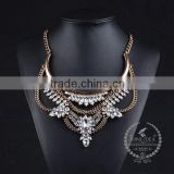 high quality vintage rhinestone chunky statement necklace tin alloy fashion women pendant necklace 6390126