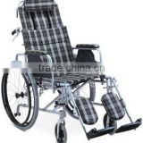 Reclining High Back Aluminum Manual Wheelchair with Plastic Hand Rim