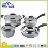 7pcs casserole, saucepan with lid non-stick cookware set stainless steel pot kitchen ware set