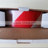 Red white PE safety warning tape Non adhesive Barrier Tape Dispenser Box Packing