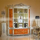 Unique Elegant Luxury Bookcase, Personality Designed Neo Classical Fashion Display Bookcase Cabinet with Drawers