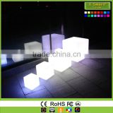 color changing rechargeable battery led cube illuminated led cube chair