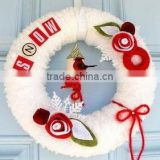 2017 china hot sale high quality handmade promotional new product handicraft christmas decoration felt wreath supplies wholesale