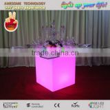 square led lighted plastic restaurant table / banquet hall tables