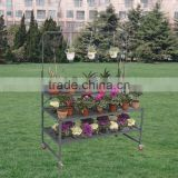 Tri-Step Display Bench with Purlin, Garden Display Racks , Flower Pot Display Racks