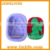 Hot selling loaf adult silicone christmas soap mold