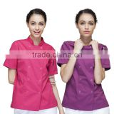 Chinese Factory Wholesale Female Chef Jacket Short/Long Sleeve Restaurant Hotel Chef Coverall Uniform Work Clothes