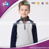 Kids girls' boy's fitness fleece pullover mockup neck 1/4 zip half zipper sweatshirts wholesale