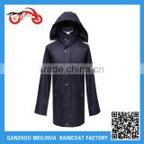 Fashion Men's Raincoat/ Waterproof Lightweight Black Long Men's Dress Raincoat /Biking Hiking Long Raincoat