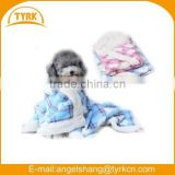 2015 cute pet blanket paw print fleece pet blanekt