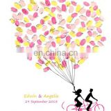 New Arrival Tandem Bicycle Fingerprint Signature Canvas Painting Wedding Attendance album