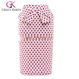 Grace Karin Occident Women's Vintage Retro Cotton Polka Dots Hips-Wrapped Skirt CL008928-1