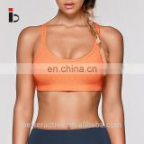 Soft fabric orange color Back straps women sports bra and leggings