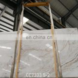 China calacatta gold white marble slab