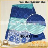 2016 African guipure lace fabric high quanlity cord lace nigerian lace fabric for wedding