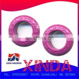 Promotional eyelet painted purple, made of brass,sank logo with superior quality,OEM/ODM orders welcomed