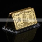 WR One Thousand Pure Gold Bar Home Decorative American Banknote Gold Art Crafts 24k Gold Bar Ornament wholesale price