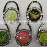 Wholesale Foldable Metal Butterfly Purse Bag Hanger Handbag Table Hook