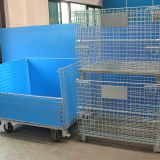 Stack welded folding steel warehouse storage cage