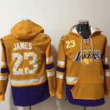 Los Angeles Lakers #23 James Yellow Hoodie