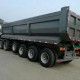 Aggregate 45cbm 80 Tons 4 Axles U-Shape Dump Truck Trailers /Tipper Semi Trailer