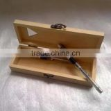 Accept custom hinge lid wooden pen box,wood pencil boxes