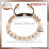 Hottest wholesale gold plated zinc alloy acrylic fashion CHARM bracelet(OEM ODM)