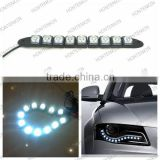 New Arrivals 12LEDs Flexible light strip auto DRL Lens Waterproof universal flexible led drl/ daytime running light