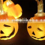 Halloween Pumpkin String Lights 24 LED Battery Operated Flashing Lanterns for Holiday Festival Party Decor (Pumpkin)