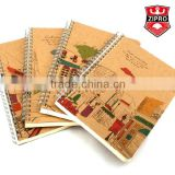 chinese hardcover notebook spiral notebook with photos kraft paper cover offset paper pocket A4 A5 A6 A7 notepad