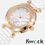 Luxury Elegant new White Ceramic Water Resistant Sports Lady Women Wrist Watch