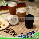 Reusable easy storage disposable ripple wall paper 600 ml coffee cup                                                                                                         Supplier's Choice