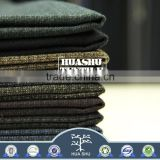 Stock lot High quality with low price Mini checked TR Brushed stretch fabric for men suit