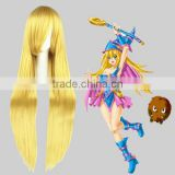 High Quality 100cm Long Straight Blonde Synthetic Anime Wig Cosplay Hair Wig