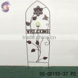 decorative wrought iron ornaments fencing with glow in the dark butterfly fence stake