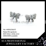 Authentic 925 sterling silver Angel Bowknot design stud earring 925 latest kids earrings in school wear fashion