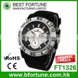 FT1326 Wholesale silicone band hot chrono watch from Hong Kong