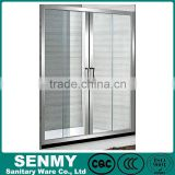 Foshan Guangdong cheap luxury double pulley folding sliding shower door sliding glass chinese bamboo shower enclosure