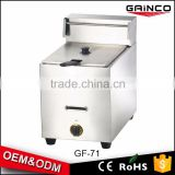 Food & Beverage Machinery chicken equipment potato gas fryer machine with CE certification for sale