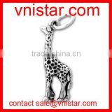 vnistar wholesale metal alloy African giraffe charm pendant for charm jewelry making TC062