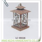 LC-89326 Decorative Metal Distressed Coppern Red Lantern with Birds                                                                                         Most Popular