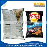 Custom plastic packaging bag for chips /snacks banana chips packaging film/plastic bags for potato chips                                                                                                         Supplier's Choice