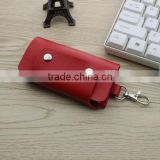 Promotional genuine real leather chain key chain with Custom Keyring for Business Promotional