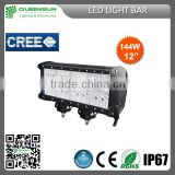 Hot Sell CREE 144w LED Light Bar for Offroad Vehicle,Heavty Duty,Agriculture,Mining and Marine QRLB144-C