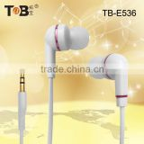New products 2015 special good-shaped free sample funny cute and cheap in-ear flat cable earphone with mic