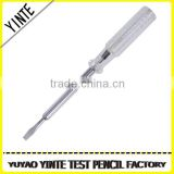 China Manufacture Ordinary test pen /screwdriver voltage tester with long-life neon light                                                                         Quality Choice