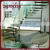 acrylic glass steel pipe stair handrail glass stairs price