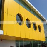 4mm pvdf coating outdoor building decoration materials yellow ACP building facade aluminum composite panel