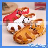 HOGIFT 2016 fashion baby boy PU leather baby simple sandals