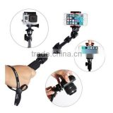 Telescopic Handheld Professional Monopod Camera Extender Pole with Tripod Mount for Gopros Heros Camera and Cell Phone